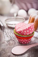 Baking utensils and ingredients