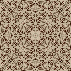 Brown seamless pattern