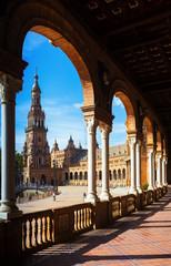 colonnade of   Plaza de Espana