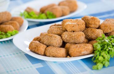 Popular side dish Croquetas fritas