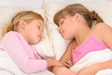 Nice girls sleeping