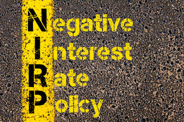 Business Acronym NIRP as Negative Interest Rate Policy