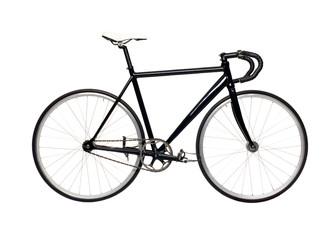 Fixed gear black city bike