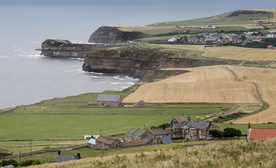 Coastal view above Staithes in Yorkshire