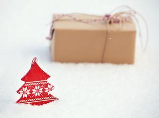 Gift on snow