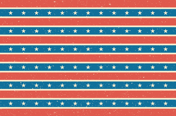 Stripes and stars background. USA flag design. Vector illustration.