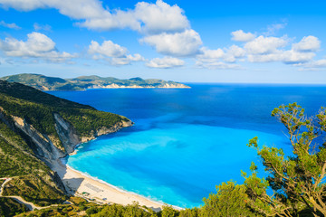 Fototapete - View of beautiful Myrtos bay and beach on Kefalonia island, Greece