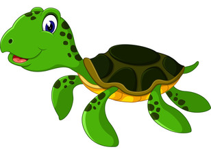 Cute cartoon turtle of illustration