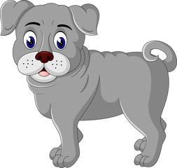 Illustration of  cute bulldog cartoon