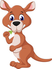 illustration of Cute kangaroo cartoon