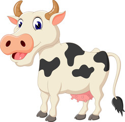 illustration of Cute cow cartoon