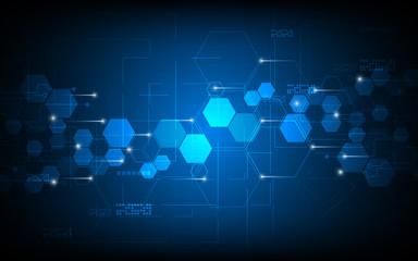 vector abstract background tech innovation hexagon pattern design