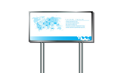 vector abstract sign big billboard design template for advertising marketing on white background