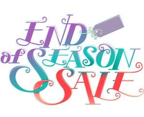 End Of Season Sale Tag