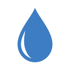 Fresh rain water droplet flat icon for apps
