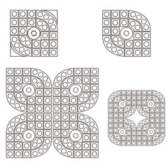 Square and circular pattern background