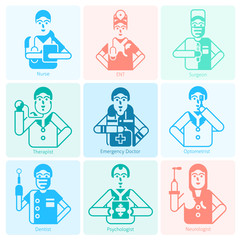 Doctor Icons Monochrome