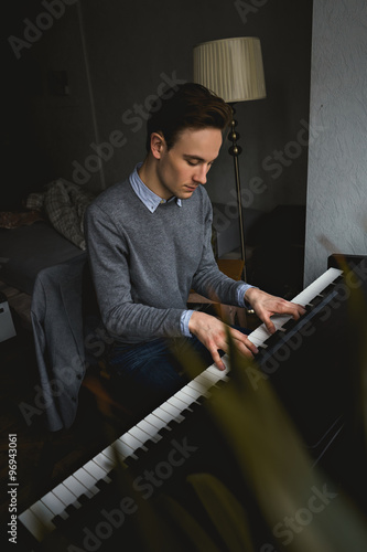 Handsome Man Photo With Piano 89