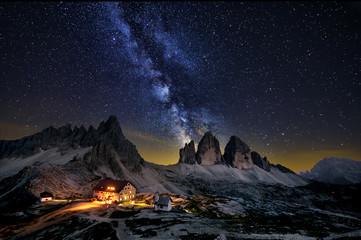Tre cime di Lavaredo  A sky full of stars