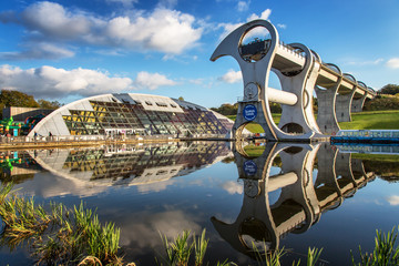 Self adhesive Wall Murals Channel Falkirk Wheel 1
