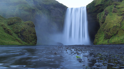 Fotomurales - The Skogarfoss waterfall in south Iceland.