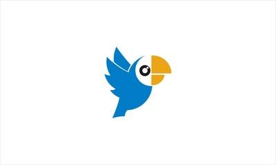 Blue Parrot Bird Logo