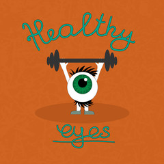 Gymnastics for the healthy eyes.