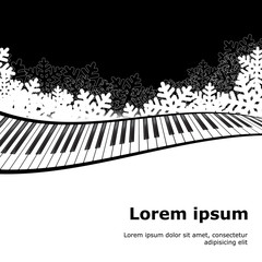 Piano template isolated