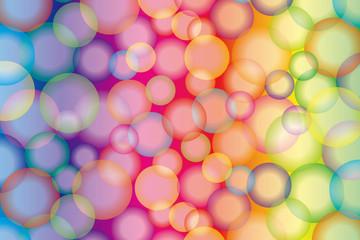 背景素材壁紙,虹彩,虹色,レインボーカラー,七色,カラフル,円,球,幻想的,夢,ファンタジー,にじ,