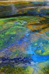 Colorful hot spring deposits