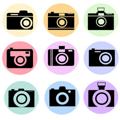 camera in colorful icons