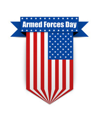 Color flag on the Armed Forces day.