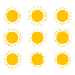 symbols of the sun.