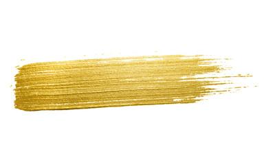 Gold paint brush stroke.