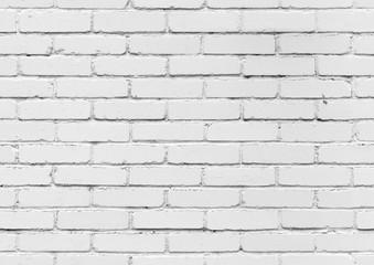 White brick wall, seamless background texture