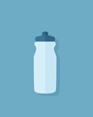 Flat sport water bottle