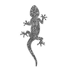 doodles lizard in zentangle style
