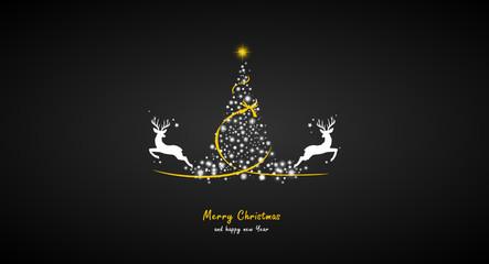 Weihnachtsbaum Sterne Hirsche
