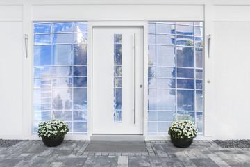 Haustür mit Glaseinsatz