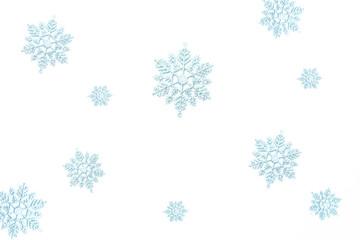 Schneeflocken eisblau