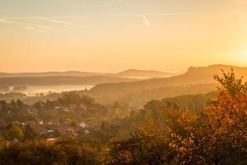 Burg Regenstein zum Sonnenaufgang