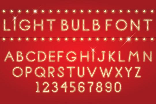 glowing letters