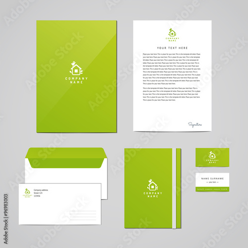 corporate identity eco design template documentation for business
