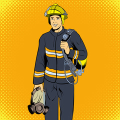Poster Superheroes Firefighter comics character