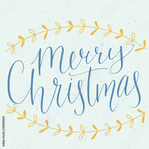 Quot merry christmas type modern calligraphy made with dip