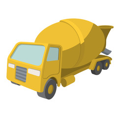 Concrete mixer cartoon yellow symbol
