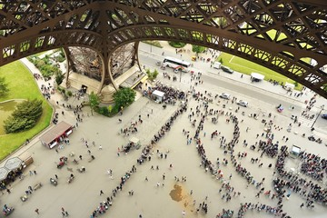 Paris - La Tour Eiffel - Le Sacré coeur - panoramique