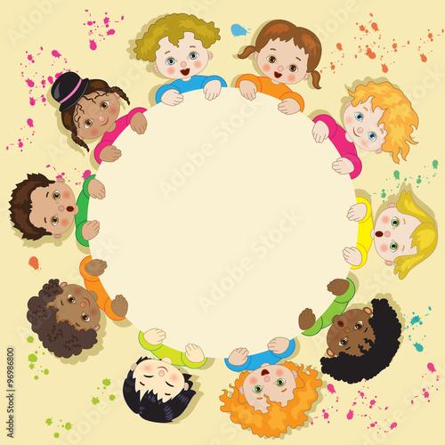 Girotondo bambini in cerchio immagini e vettoriali - Immagine del mouse a colori ...