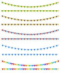 Festive flags elements