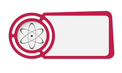 Abstract frame for your text and science icon